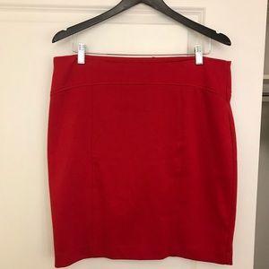 Michael Kors red skirt size 10